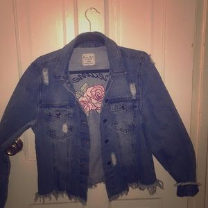 Love Tree Oversized Denim Jacket